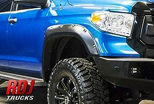 RDJ Trucks PRO-Offroad Bolt-On Style Fender Flares - Fits Toyota Tundra 2014-2020 - Set of 4 (Textured w/Rhino Skin)