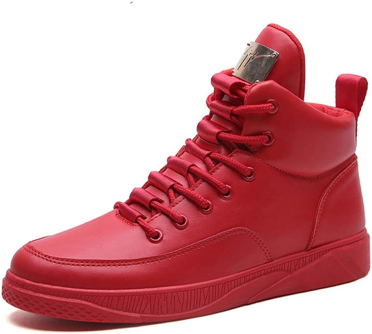 T-JULY Fashion Breathable Canvas High Top shoes Lace Up Rubber Sole PU Leather Trainers Boots shoes Winter Casual