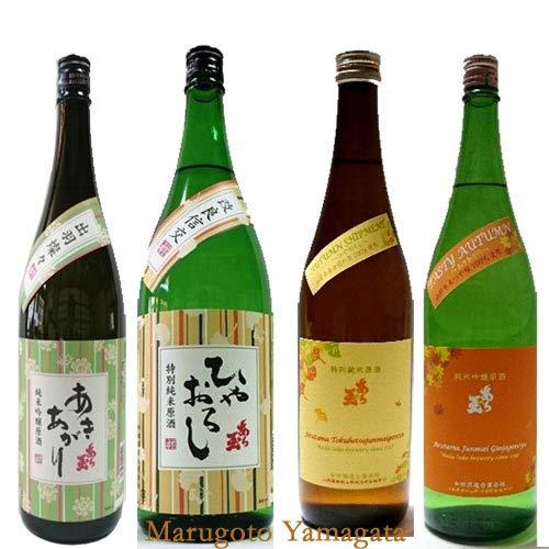 日本酒 飲み比べセット あら玉 秋酒 720ml 4本 セットおつまみつき 山形 和田酒造 河北町