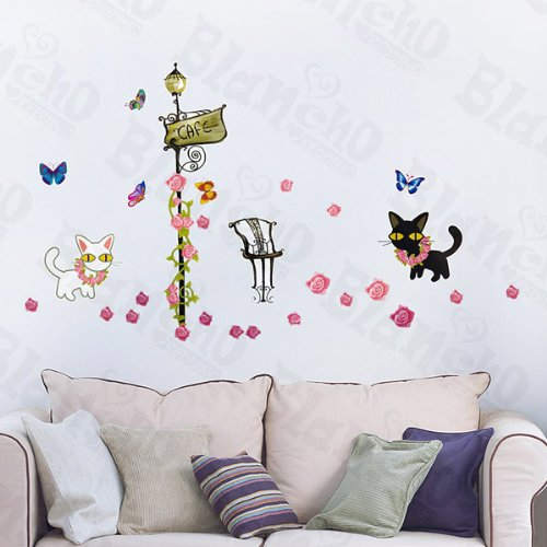 Kitty patchs à Couple – Stickers muraux Stickers Home Decor