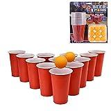 36pcs Beer Pong Set Suerte Beber Juego de Habilidad Copas Bolas Party Pub Ping Pong Diversión