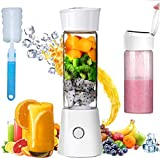 Portable Blender, Personal Size 480mL Rechargeable USB Juicer Blender, Baby Food Smoothie Milkshake Maker Juicer Cup, Fruit Mixer As Home Travel and Outdoor Sport