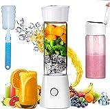 Portable Blender, Personal Size 480mL Rechargeable USB Juicer Blender, Baby Food Smoothie Milkshake Maker Juicer Cup, Fruit Mixer As Home Travel and Outdoor Sport