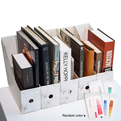 HYZXK Documento Rivista Cancelleria Home Office Desk Desk Organizer Portariviste, 4-Tier Titolare di File Vassoio di Archiviazione in Piedi Organizer,Bianca