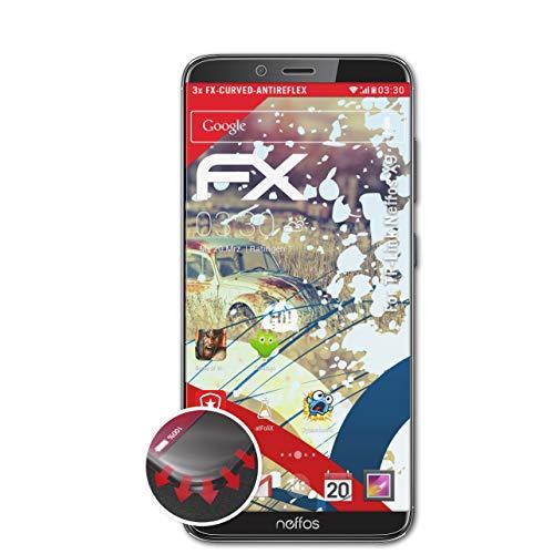 atFolix Schutzfolie kompatibel mit TP-Link Neffos X9 Folie, entspiegelnde & Flexible FX Bildschirmschutzfolie (3X)