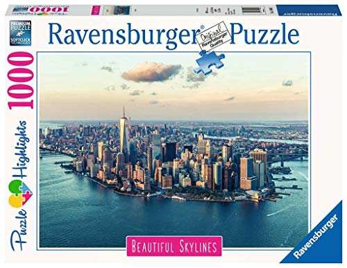 Ravensburger 14086 New York, Puzzle 1000 Pezzi, Collezione Beautiful Skylines, Puzzle da Adulti