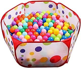 Piscina de bolas hexágonal de lunares para niños, parque Ball Pit interior y exterior fácil de plegar juego de casa para niños, 100cm