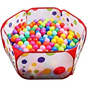 Kids Ball Pit EocuSun Large Pop Up Toddler Ball Pits Play Tent for Toddlers Girls Boys for Indoor Outdoor Baby Playpen w/Zipper Storage Bag, Balls Not Included