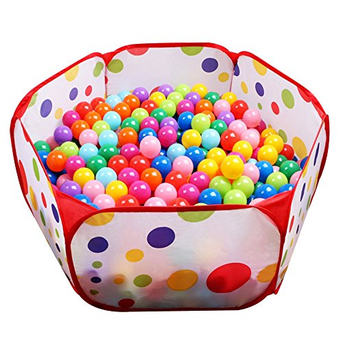 EocuSun Kids Ball Pit Tent-Toddler Ball Pit Playpen with Zippered Storage Bag for Indoor/Outdoor Fun Activities,Great Presents for Toddlers Girls or Boys ,Balls Not Included(Red)
