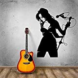 Cantante femenina Pop Music Poster Home Dormitorio Decoración de diseño de arte 42x52CM cita de arte Etiqueta de la pared,etiqueta extraíble,póster impermeable,decoración del hogar,papel pintado de vi