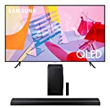 Samsung QN55Q60TA 55' Ultra High Definition 4K QLED Quantum HDR Smart TV with a Samsung HW-Q70T 3.1.2 Ch Dolby Atmos Soundbar with Wireless Subwoofer (2020)