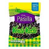 Chile Pasilla deshidratado 225 g (paquete de 3 75 g)...