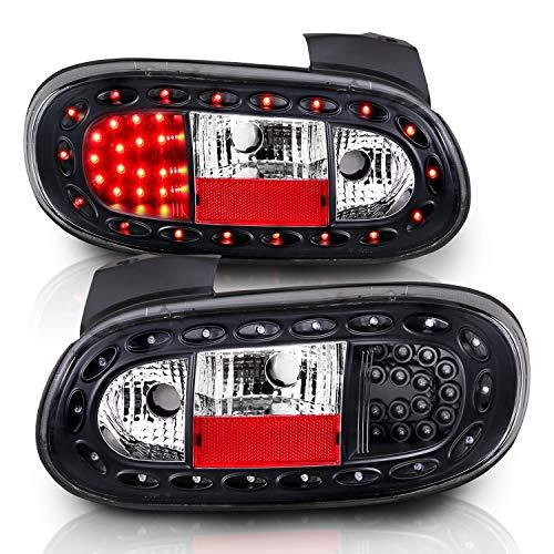 AmeriLite Led Taillights Black for Mazda Miata - Passenger and Driver Side