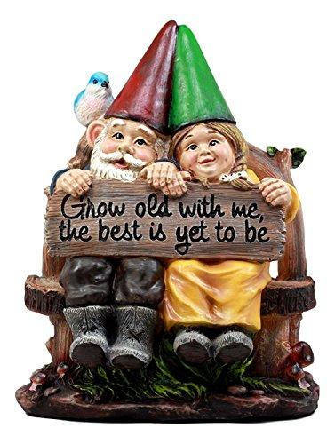 ATL Autotechnik Figura decorativa para césped de jardín con texto en inglés 'Crece viejo conmigo...