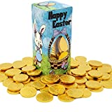 Easter Bunny Milk Chocolate Belgian Gold Coins, Kosher Certified, Nut-Free, 1LB