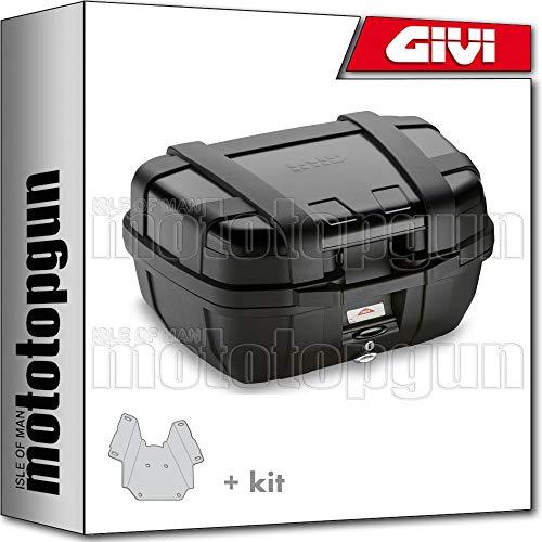 givi maleta trekker black line trk52b + porta-equipaje compatible con suzuki dl 650 v-strom 2019 19 2020 20