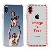 MXCUSTOM Custom Apple iPhone Xs Max Case, Customized Personalized with Photo Image Text Picture Design Make Your Own Phone Cases Covers [Clear Soft TPU Slim Shockproof](FXT-CR-P1)