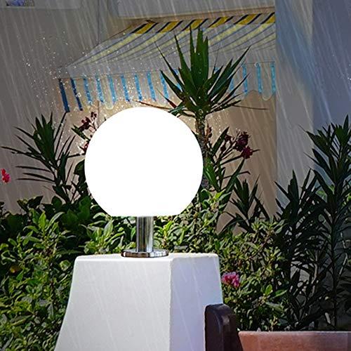 ZSAIMD Globo de la columna de luz de la linterna IP54Water un lado for otro Lámparas aterproof Pon luces de camino enciende la lámpara al aire pilar de la columna Europea luz de la pared del jardín de