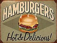 Hamburgers ティンサイン ポスター ン サイン プレート ブリキ看板 ホーム バーために