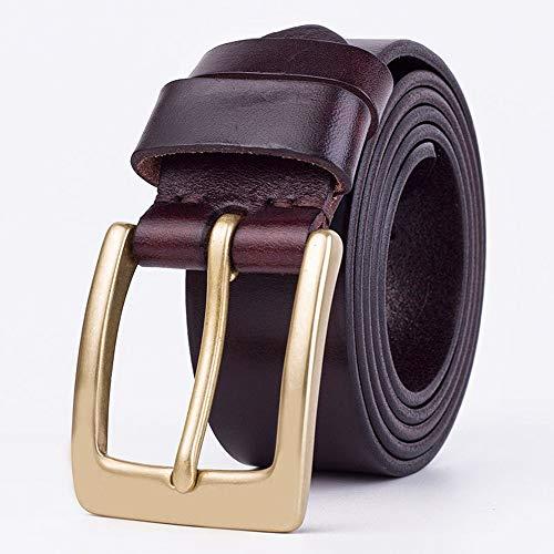 Riem Vader giftMen's Belt Gold Claw Button Belt Trinity Style Jeans lederen band Zakelijke kansen, partijen (Color : Red, Size : 115cm)