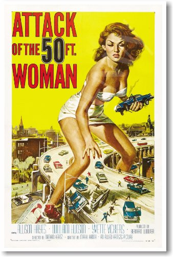 Attack of the 50 Ft. Woman - NEW Vintage Film Movie Poster