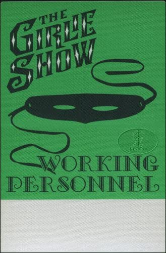 Madonna 1993 Girlie Show Crew Low Fashion price Green Backstage Pass