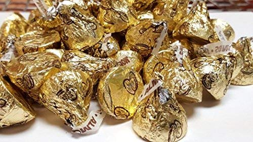Gold Hershey's Kisses with Almonds 2 pounds