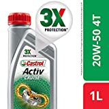 Castrol Activ Cruise 4T 20W-50 Engine Oil for Bikes (1 L)