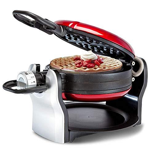 XYWCHK Waffle Maker Electric Pancake Cake Making Machine Baking Tools Household, 180 Degree Flipping Round Nonstick Plates Breakfast Machine Hash Browns