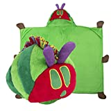 Comfy Critters Stuffed Animal Blanket – The World of Eric Carle, The Very Hungry Caterpillar – Kids Huggable Pillow and Blanket Perfect for Pretend Play, Travel, nap time.