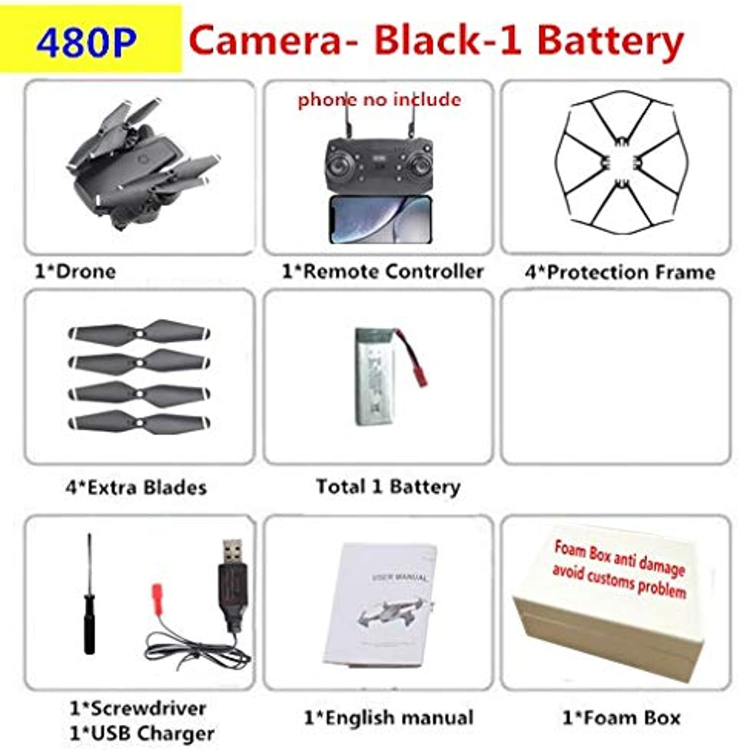Generic HDRC D8 RC Drone with 2MP Camera Dron Quadrocopter Altitude Hold RC Drones with Camera HD 1080P 20mins Flying VS M69 E58 S20 X12 480P Camera350852