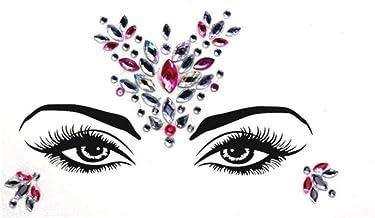 Etiquetas engomadas temporales del Tatuaje del Brillo del Diamante Artificial Joyas de la Cara Gemas Festival Fiesta Maquillaje Cuerpo Joyas Flash Tatuajes temporales Falsos, Color, 33
