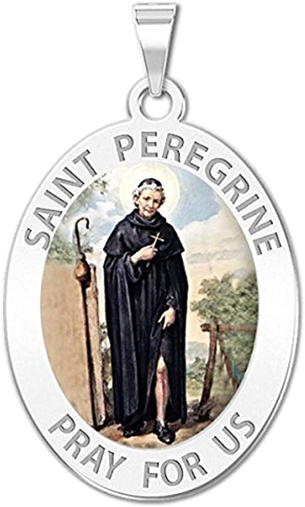 PicturesOnGold.com Saint Peregrine 70% OFF Outlet - Portland Mall Oval Color Inch 2 3 X 1