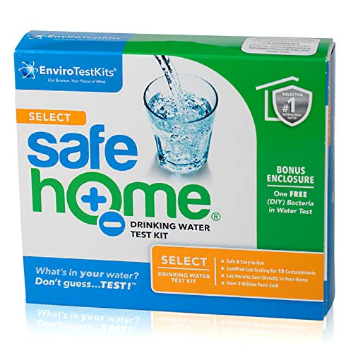 Safe Home SELECT Water Quality Test Kit – Testing for 15 Different Parameters at our EPA Certified Laboratory – Comprehensive Analysis of City Water or Well Water
