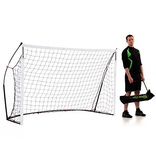 QuickPlay Porterías de fútbol de Kickster Academy - El Objetivo Ultra portátil de fútbol Incluye Red de fútbol y Llevar Bolsa [Solo Porterías]