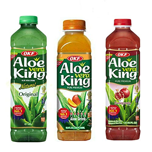 OKF Aloe Vera King - 1.5Lt - Pack-12 (Original, Mango, Pomegranate)