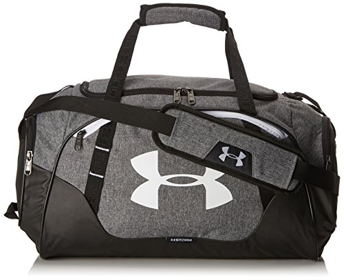 Under Armour Undeniable Duffle 3.0 Gym Bag, Graphite (041)/White, Medium
