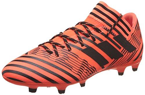adidas Herren Nemeziz 17.3 Fg Fußballschuhe, Weiß, Mehrfarbig (Solar Orange/core Black), 42 EU