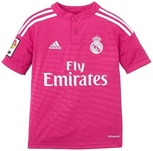 adidas - Camiseta Junior 2ª Equipación Real Madrid CF 2014-2015, Color Rosa, Talla 152 cm