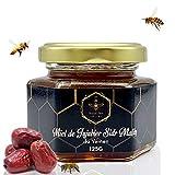 Miel Sidr de Yemen Pure Jujube Brut Miel Sidr Royal 125 g -Natural - Energizante - 1 cuchara de madera natural biodegradable