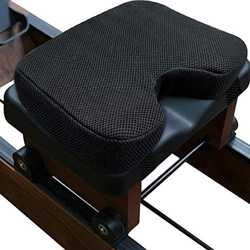Cojín para máquina de remo con memoria, cómodo cojín para máquina de remo de interior, con funda lavable, antideslizante, resistente al sudor, duradero, 32 x 22 x 7 cm, universal