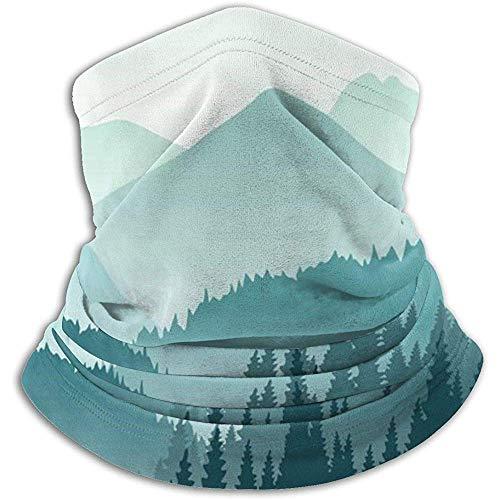 Giles John Halswärmer-Gamasche Schöne Grüne Berglandschafts-Winddichte Gesichtsmaske Für Ski Snowboard