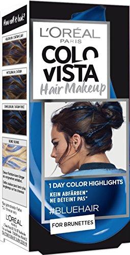 L\'Oréal Paris Colovista Hair Makeup, 1-Day-Color-Highlights, 19 bluehair