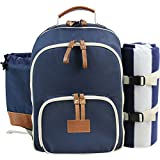 INNO STAGE Insulated Picnic Backpack for 4 Persons with Full Stainless Cutlery Set
