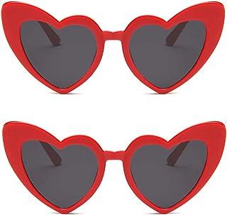 نظارات شمسية على شكل قلب JUSLINK للنساء، نمط كلاسيكي كات عين مود ريترو كوبان نظارات