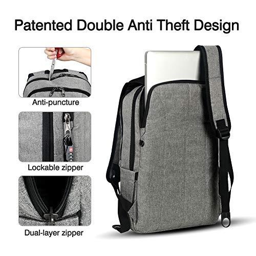 kopack Computer Backpack 17 Inch Water Resistant/USB Port/Anti-Theft Slim Travel Laptop Back Pack for College School Business