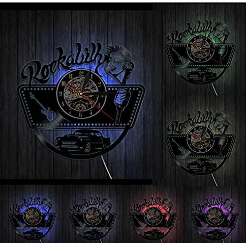 7 Colores con luz Retro Vintage Reloj de Pared Decorativo Modelo de Actriz Cantante Símbolos sexuales Icono Arte de la Pared Regalo Vintage 30cm