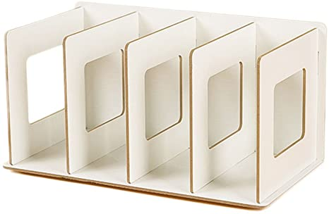 Fokom Holz Cd Ständer Dvd Ständer Buchständer Weiß Küche Haushalt