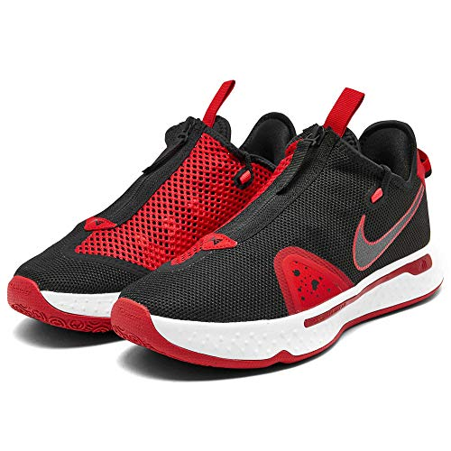 Nike Kid's (GS) PG 4 Basketball Shoes (Black/University Red-White, Numeric_6)