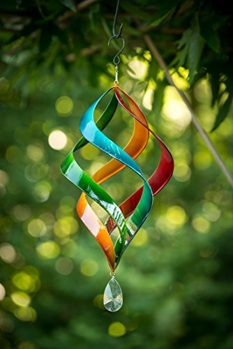 TS Gardendeco Windspiel Iron, dekorativ und pulverbeschichtet, mehrfarbig, 23 x 23 x 46 cm, 134439 - 3